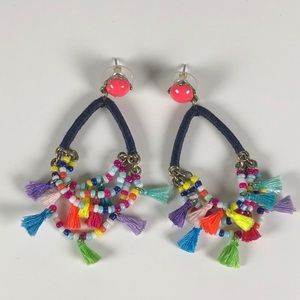 Baublebar multicolored tassel earrings